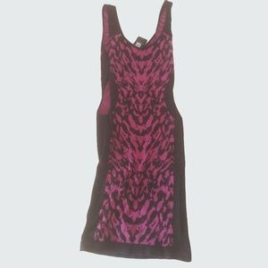 Bebe Black / Purple Mini Dress